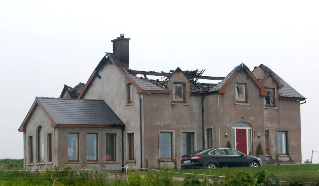 Fire Damaged House from Lighting Strikes - Insurance Claims