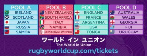Rugby World Cup Pools 2019